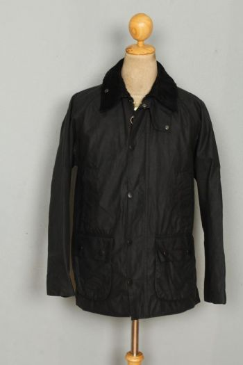 BARBOUR Bedale WAXED Jacket Black Size 36 Small
